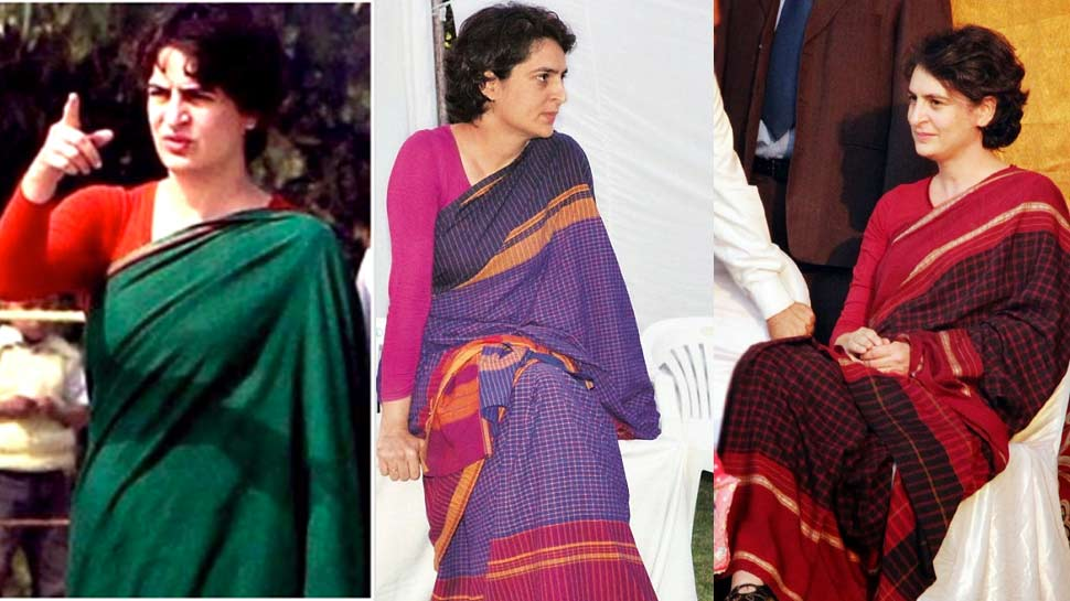 priyanka gandhi in saree
