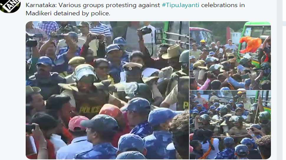 protest on tipu jayanti celebrations in karnataka live updates