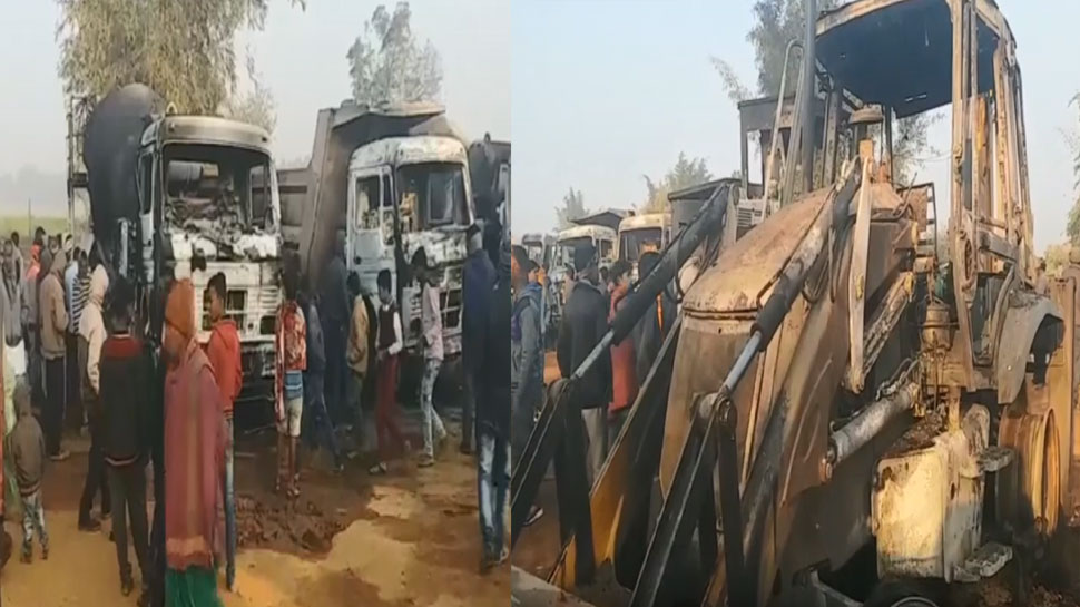 Jharkhand Naxalites burn nine vehicals in Ramgarh