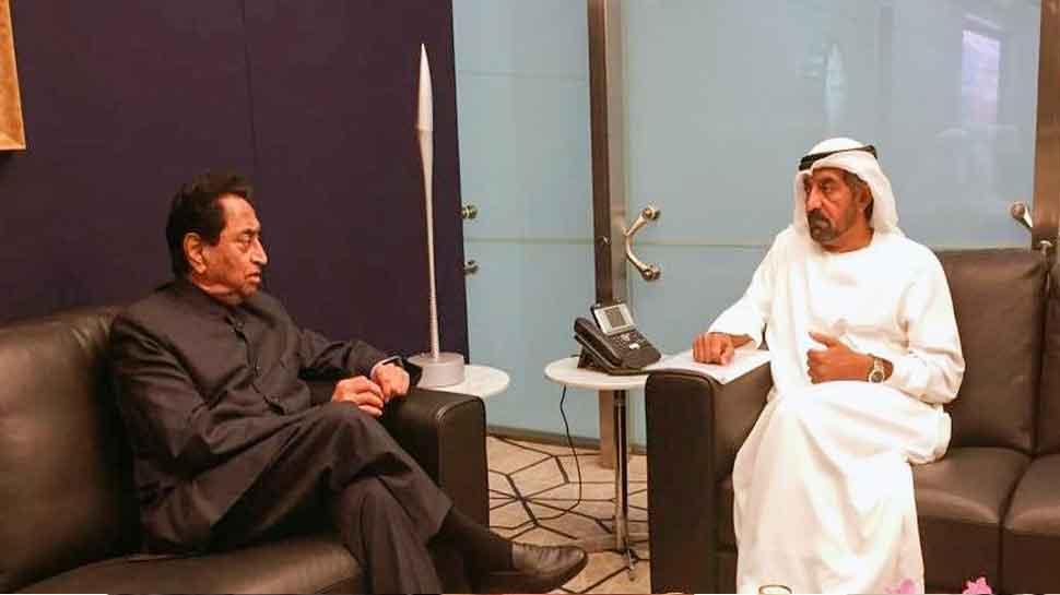 Kamal Nath meets Emirates Airlines Chairman HH Sheikh Ahmed bin Saeed Al Maktoum