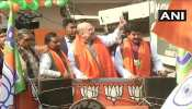 दिल्ली चुनाव में भाजपा उम्मीदवार के पक्ष में अमित शाह ने किया रोड शो
