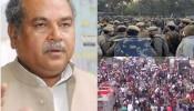 Kisan Protest: जारी है पुलिस और किसानों के बीच धक्का-मुक्की, कृषि मंत्री ने बातचीत का न्यौता दिया