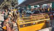 farmers protest heavy police force deployment at delhi faridabad border