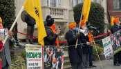 Farmers Protest: अमेरिका में भारतीय दूतावास के बाहर प्रदर्शन, खालिस्तान समर्थकों ने लगाए भारत विरोधी नारे