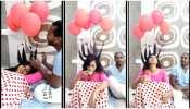 पत्नी की चोटियों पर बांध दिए गुब्बारे, फिर चाय के साथ दिया सरप्राइज
