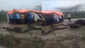 भारी बारिश के चलते श्मशान घाट में अंतिम संस्कार को तरस रहे शव, ग्रामीणों में आक्रोश