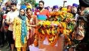 राजकीय सम्मान के साथ हुआ शहीद सारज सिंह का अंतिम संस्कार, पथराई आंखों से देखती रही पत्नी