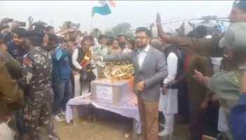 बिहारः शहीद पिंटू सिंह को श्रद्धांजलि देने पटना एयरपोर्ट नहीं पहुंचे सरकार के मंत्री