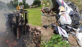 उदयपुर के पीलादर में हत्या के बाद बवाल, प्रदर्शनकारियों ने फूंके वाहन