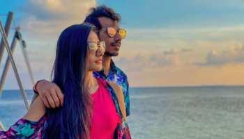 Yuzvendra Chahal and Dhanashree Verma enjoying their Honeymoon in Maldives