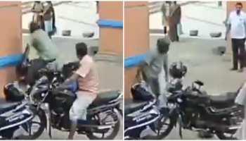 Social Media पर वायरल हुआ Bike Accident Video, Helmet से बची युवक की जान