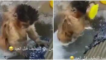 Viral Video: बंदर ने रगड़-रगड़ कर साफ किए कपड़े, देखिए आज का सबसे मजेदार वीडियो