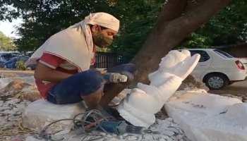कोरोना की मार झेल रही भेड़ाघाट की विश्व प्रसिद्ध मूर्तिकला, लोगों के सामने पैदा हुआ खाने का संकट