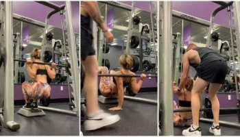 Gym Video: एक्सरसाइज करते हुए गिर गई लड़की, मदद करने वाले को कहा ऐसा