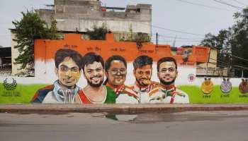 Tokyo Paralympics के चैंपियंस को सलाम, इस पेंटर ने दिल्ली की दीवारों पर बनाई शानदार