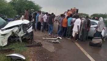 Nagaur: भीषण सड़क हादसे में पिता-पुत्री की मौत, टक्कर के बाद कार ने खाई 7 पलटियां