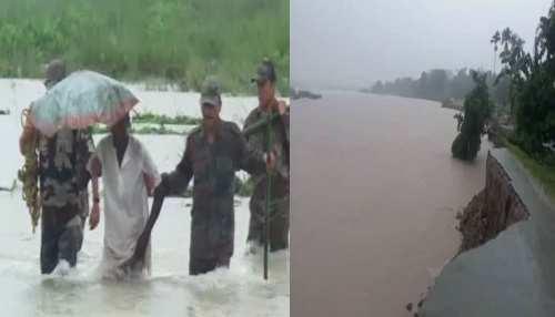 असम: बाढ़ की चपेट में आए 3 लाख से अधिक लोग, बचाव कार्य में उतरी सेना