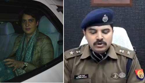 यूपी पुलिस ने नकारे प्रियंका गांधी के आरोप, कहा - कार इसलिए रोकी गई थी क्योंकि...