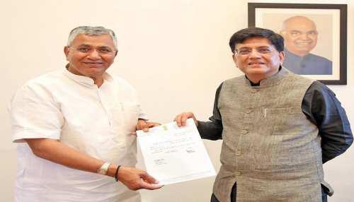Rajasthan: रेल मंत्री पीयूष गोयल से मिले BJP MP पीपी चौधरी, की यह मांग