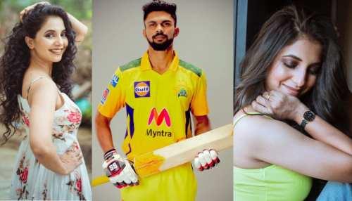 Chennai super kings Ruturaj Gaikwad romantic comments on Sayali Sanjeev pics know who is she