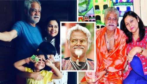 comedian sanjay mishra family members had hair dye condition in his and kiran marriage