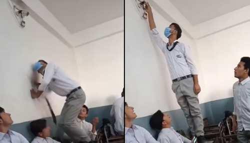 स्टूडेंट ने क्लासरूम में लगे CCTV का घुमाया मुंह, फिर करने लगा ऐसी हरकत- देखें पूरी घटना का Video