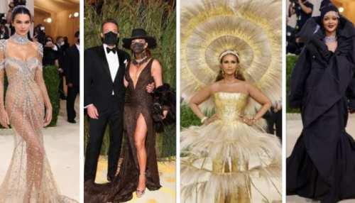 met gala 2021 celebrity look complete list jennifer lopez kendal jenner rihanna