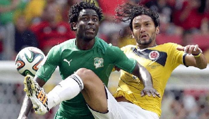 फीफा वर्ल्ड कप 2014: कोलंबिया ने आइवरी कोस्ट को 2-1 से हराया