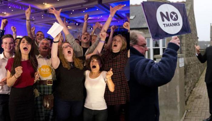 ब्रिटेन का हिस्सा बना रहेगा स्कॉटलैंड, जनमत संग्रह में आजादी को नकारा