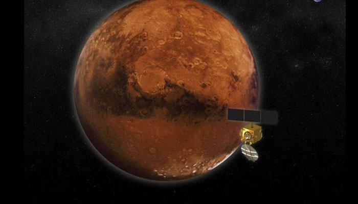 भारत के मंगलयान ने अपने कैमरे से मंगल ग्रह की भेजी पांच तस्वीरें