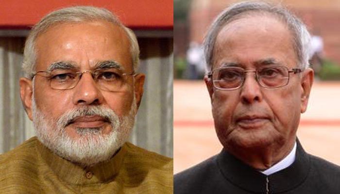 राष्ट्रपति प्रणब मुखर्जी से मिले पीएम मोदी, रविवार को हो सकता है कैबिनेट का विस्तार
