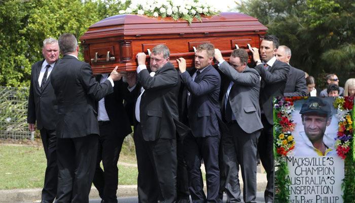 ऑस्ट्रेलियाई क्रिकेटर ह्यूज को हजारों लोगों ने नम आंखों से दी अंतिम विदाई