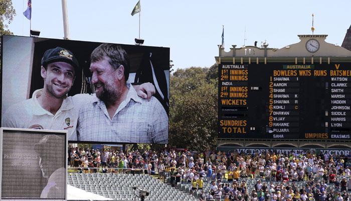 आस्ट्रेलियाई टीम के '13वें खिलाड़ी' फिलिप ह्यूज को सभी ने किया याद