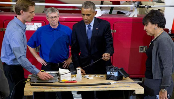 अमेरिका में बेहतर, तेज एवं सस्ते ब्रॉडबैंड पर ओबामा का जोर