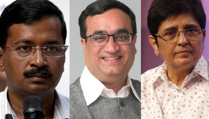 दिल्ली डिबेट: माकन ने कबूली केजरीवाल की चुनौती, बेदी ने कहा- 'सदन के भीतर' बहस करेंगी