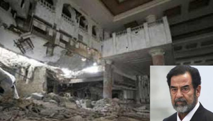 इस्लामिक स्टेट ने सद्दाम हुसैन के नौ आलीशान महलों को विस्फोट कर उड़ाया