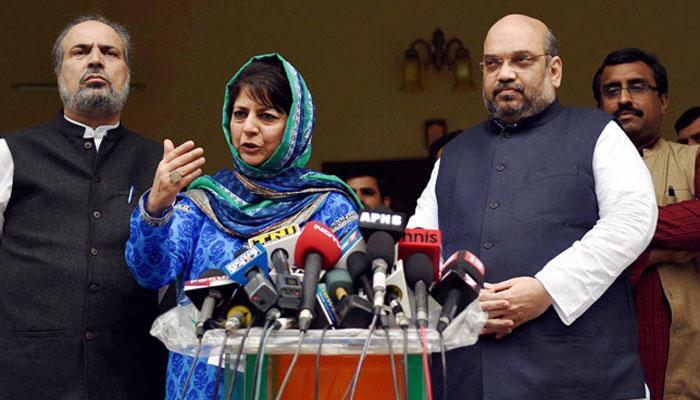 जम्मू-कश्मीर में बनेगी भाजपा-पीडीपी की सरकार, महबूबा-शाह ने न्यूनतम साझा कार्यक्रम को दिया अंतिम रूप