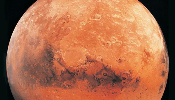 मंगल ग्रह के एक हिस्से में खनिज की नालियां मिलीं