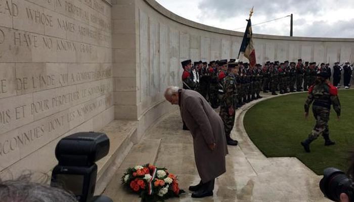PM मोदी ने प्रथम विश्वयुद्ध में शहीद हुए भारतीय जवानों को दी श्रद्धांजलि