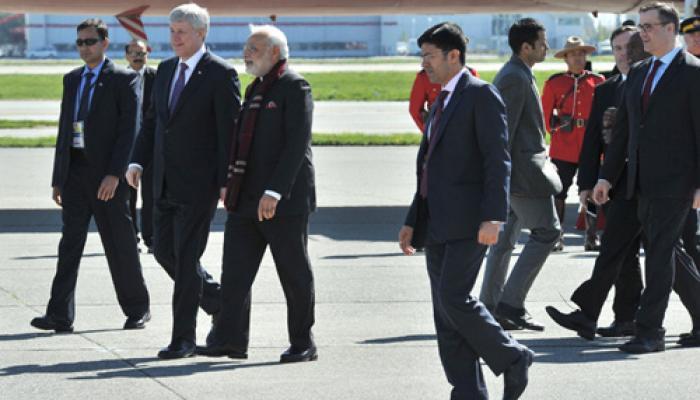 तीन देशों की यात्रा के बाद प्रधानमंत्री मोदी कनाडा से स्वदेश रवाना