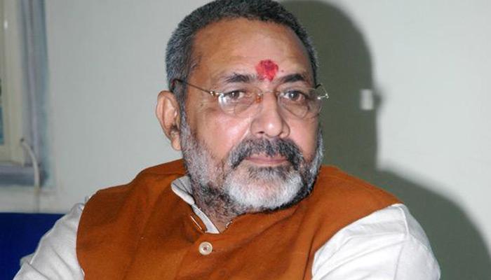 राहुल पर गिरिराज का विवादित बयान, कहा- 'जिन्हें बछिया और बछड़े में फर्क नहीं मालूम वो किसानों की बात करते है'