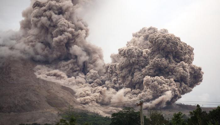 Indonesia volcano spews lava