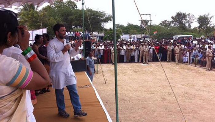 सरकार को आसानी से किसानों की जमीन नहीं लेने देगी कांग्रेस : राहुल गांधी
