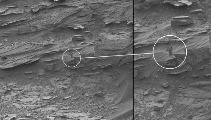 मंगल पर दिखी औरत की आकृति?