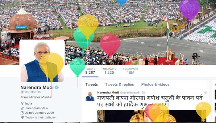 Twitter ने पीएम मोदी को खास अंदाज में दी जन्मदिन की बधाई
