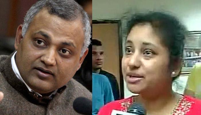 घरेलू हिंसा: AAP विधायक सोमनाथ भारती को आगरा ले जाया गया