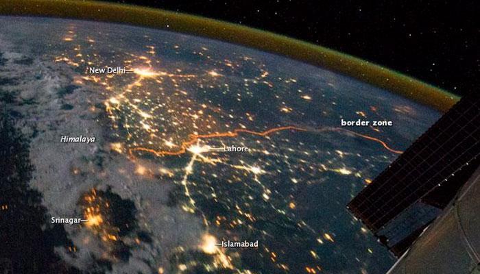 नासा ने भारत-पाकिस्तान सीमा की रात में खींची गयी तस्वीर जारी की