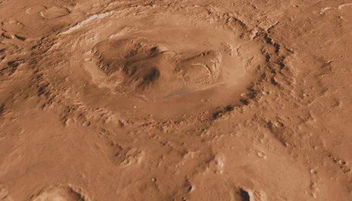 मंगल ग्रह पर बहते पानी से गेल क्रेटर भरा