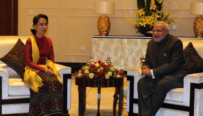 संसदीय चुनाव में जीत पर पीएम मोदी ने सू की को दी बधाई