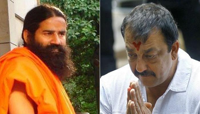 यरवदा जेल में संजय दत्त से मिले बाबा रामदेव